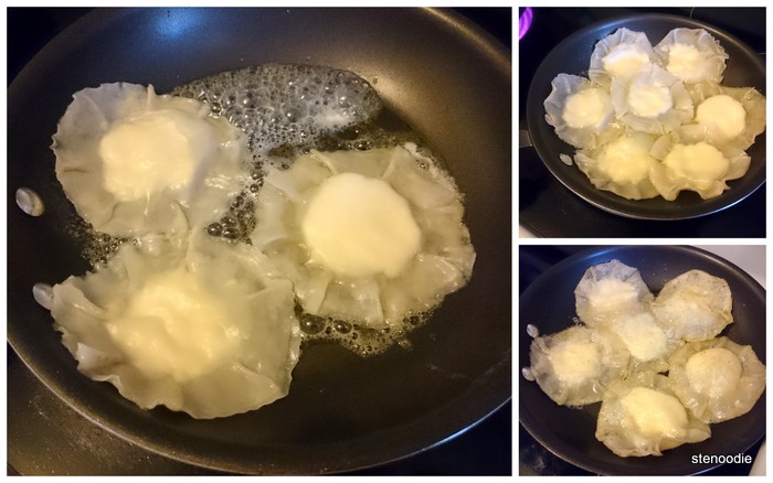 Cooking the ravioli