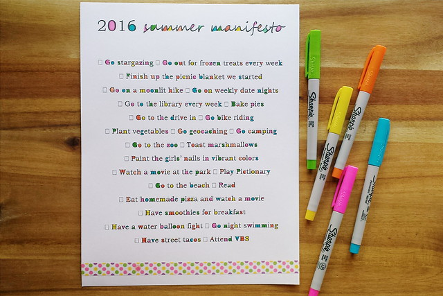 summer manifesto 2016