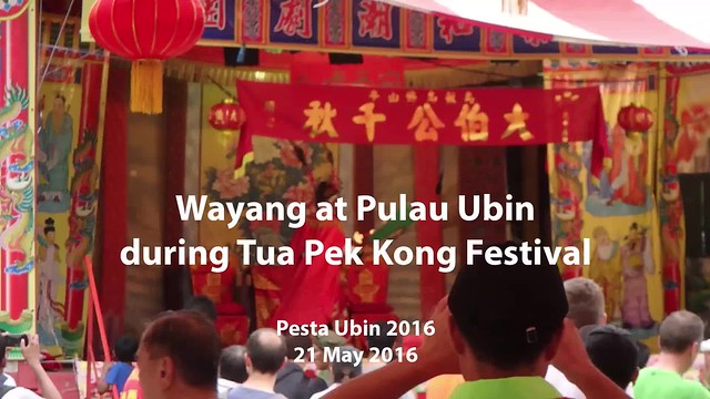 Wayang (Chinese Opera) at Tua Pek Kong festival, Pulau Ubin
