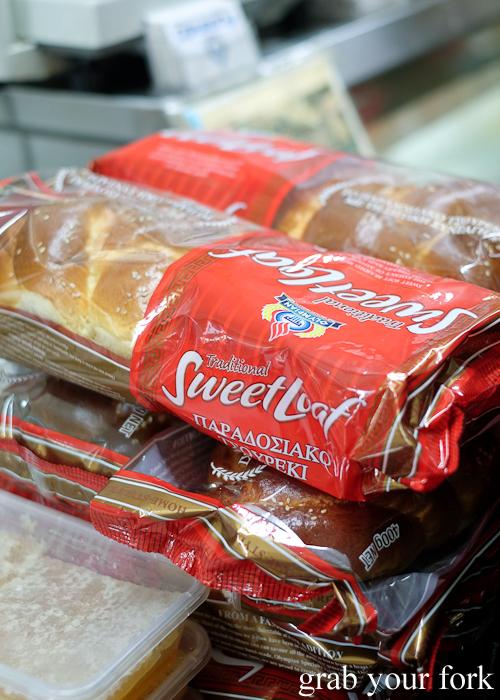Tsoureki sweet bread at Lamia Super Deli during the Community Kouzina Marrickville Food Tour for Open Marrickville