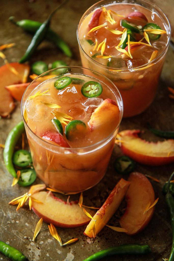 Peach Serrano Margaritas from HeatherChristo.com
