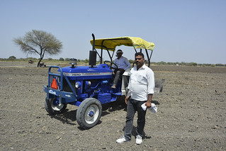 Baoji Daya, a farmer of Chidavad, on his field.