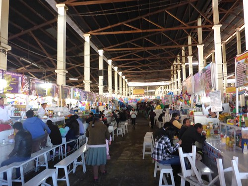 Lunch area of the market