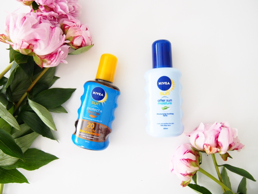Spf products for face, body and hair, Nivea Protect&Bronze, Nivea After Sun mist