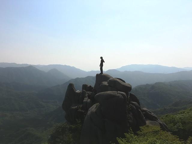 竜ヶ岳 表道 重ね岩 いち