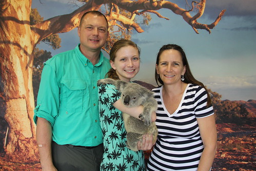 Steve Nadine and Kelsea with Koala