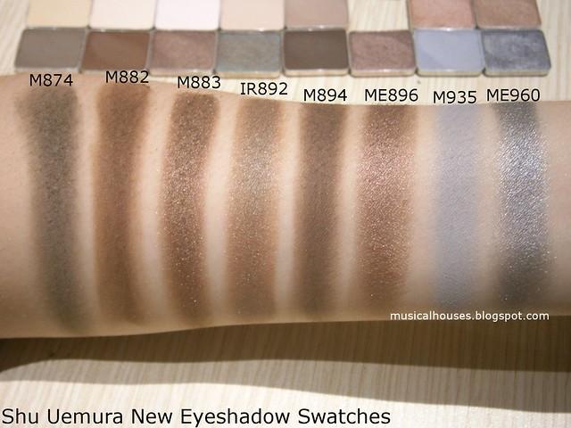 Shu Uemura Eyeshadows Swatches Neutrals Browns