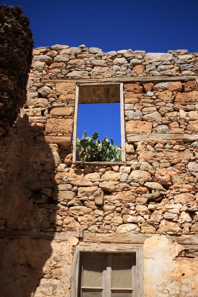 Spinalonga Cactus Window