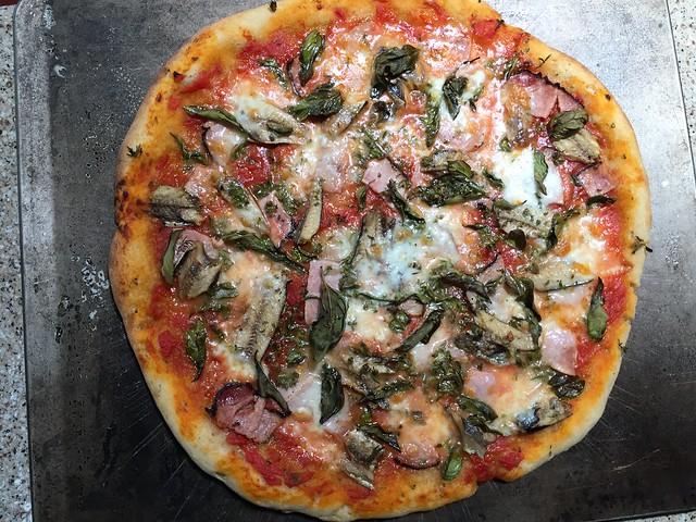 Black Forest Ham/Sardine Pizza
