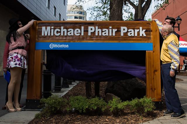 Michael Phair Park Unveiling