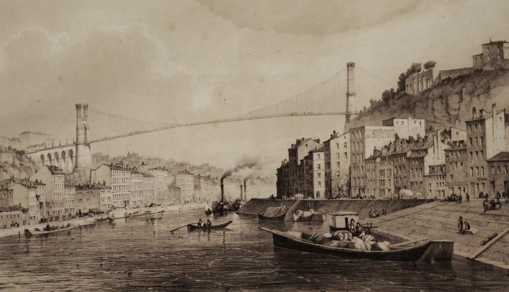 Projet de construction de pont entre la Croix Rousse et Fourvière au musée d'histoire de Lyon
