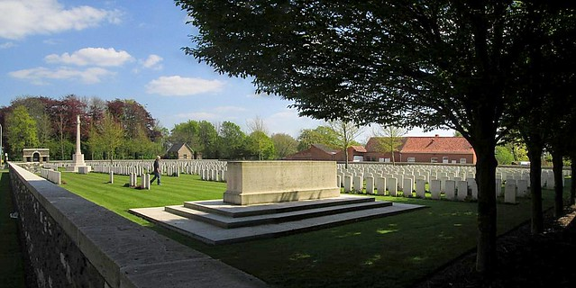 Menin Road South Cemetery, View from West