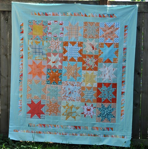 star quilt top finished | by vickivictoria