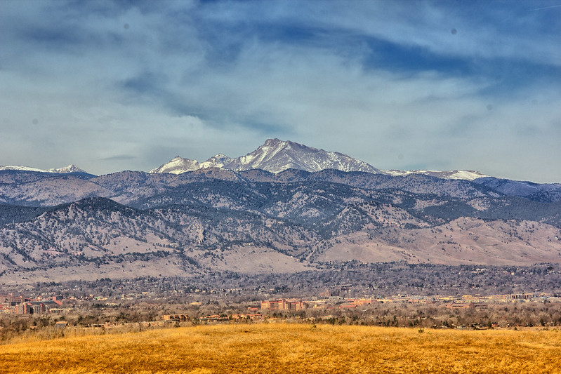 Longs Peak above Boulder