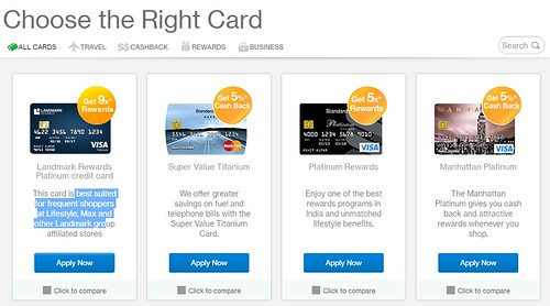 Standard chartered credit card application online
