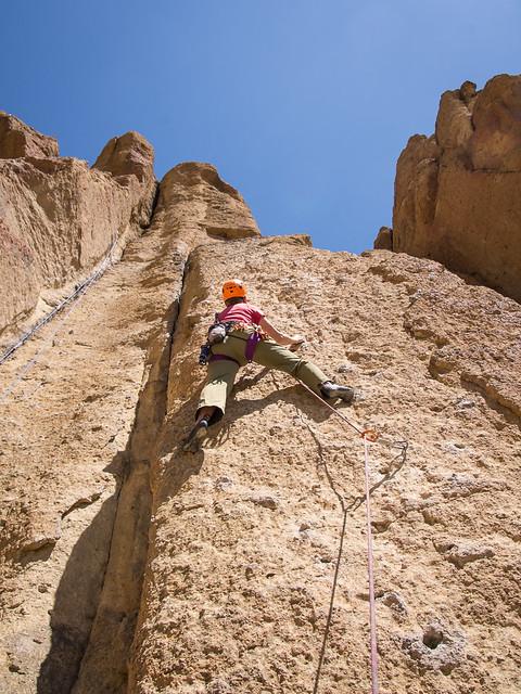 Shelley climbing