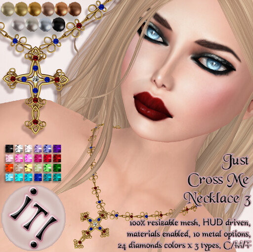 !IT! - Just Cross Me Necklace 3 Image