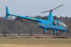 G-DROL - 2007 build Robinson R44 Raven II, departing from Halfpenny Green