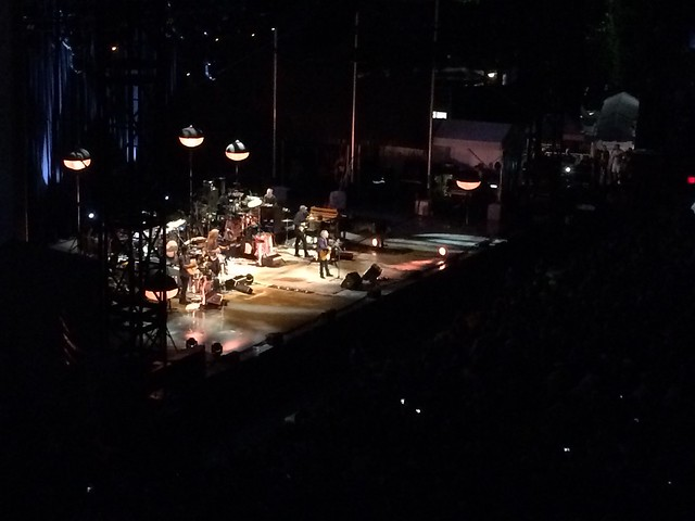 That's Paul Simon up there. He and his band were amazing. Ended the show with Bridge Over Troubled Water.