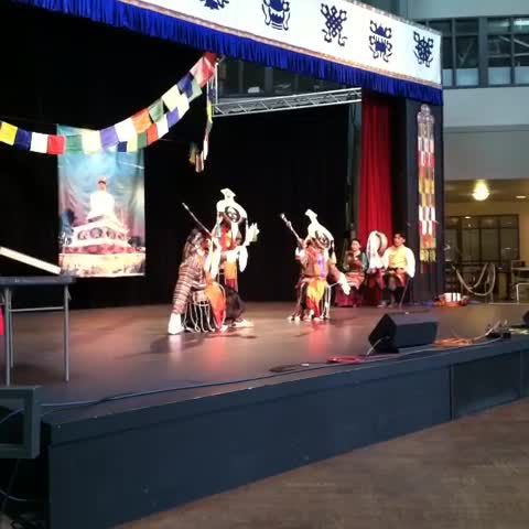 tibetan blue masked dancers at tibet fest video seattle
