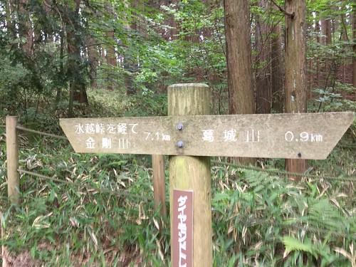 水越峠〜葛城山 もうすぐ山頂 遠かった