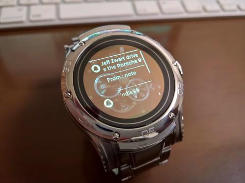 Kairos Watchの通知表示