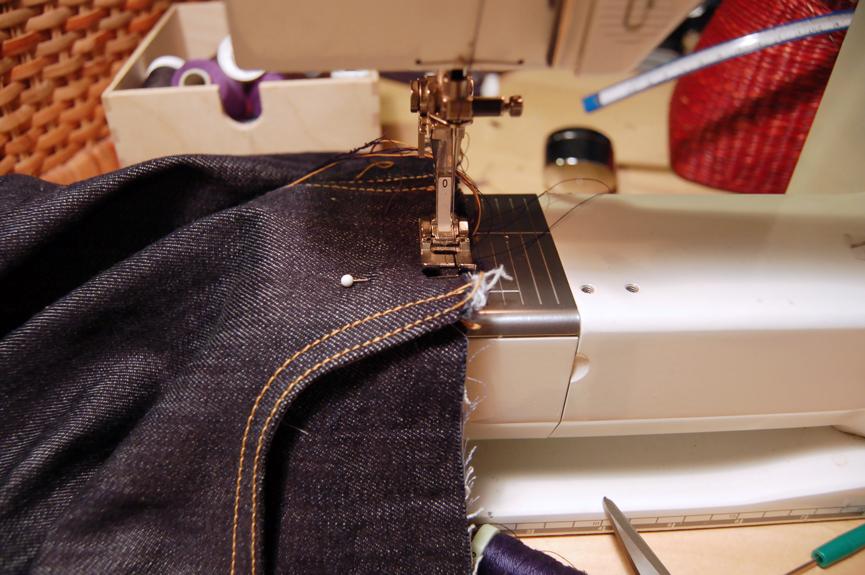 How to make jeans front pockets like a pro