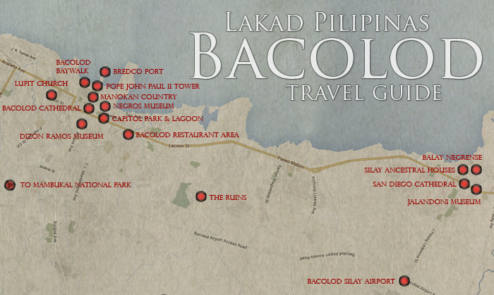 BACOLOD Travel Guide Itinerary Budget Lakad Pilipinas - Bacolod map