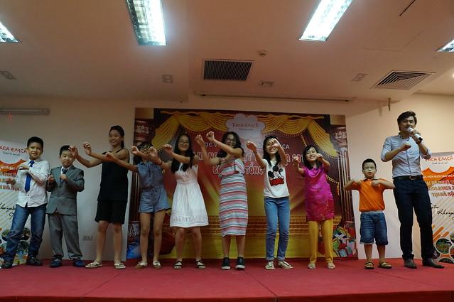 Hội trường tổ chức tổng kết trại hè