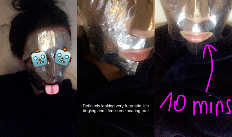 Powerfoil Mask Snapchat Story