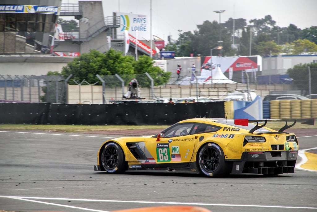#63 Corvette Racing - GM Chevrolet Corvette C7.R exiting the Ford chicane
