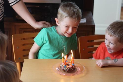 Sixth Birthday Doughnut