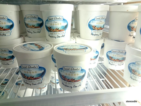 Sweet Olenka's ice cream pints