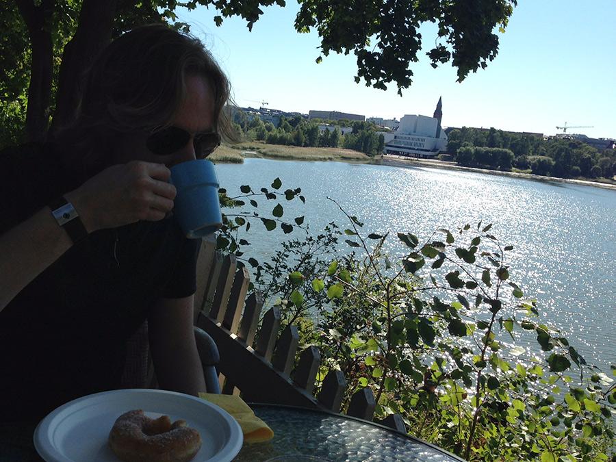 Mitä tehdä Helsingissä kesällä Sinisen Huvilan kahvila