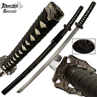Samurai-sword-dragon-katana-black
