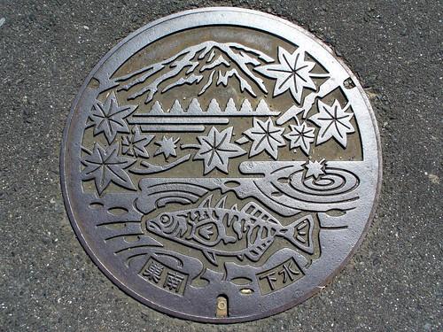 Sunami Gifu, manhole cover (岐阜県巣南町のマンホール)