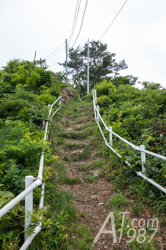 Slope way to Kosode Monitoring Hut