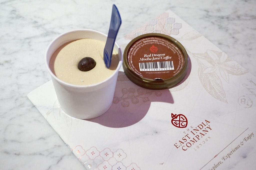 reddragonmochajavacoffee, theeastindiacompany, icecream,