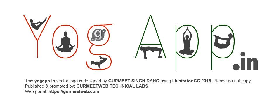 Yogapp.in logo by GURMEET SINGH DANG