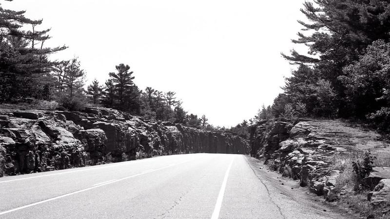 Highway 118 Through a Rock Cut