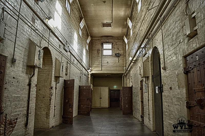 Next to the Old Melbourne Gaol is the Old Magistrates Court with the cells. It is a dim room with all of the doors open and it looks frightening!