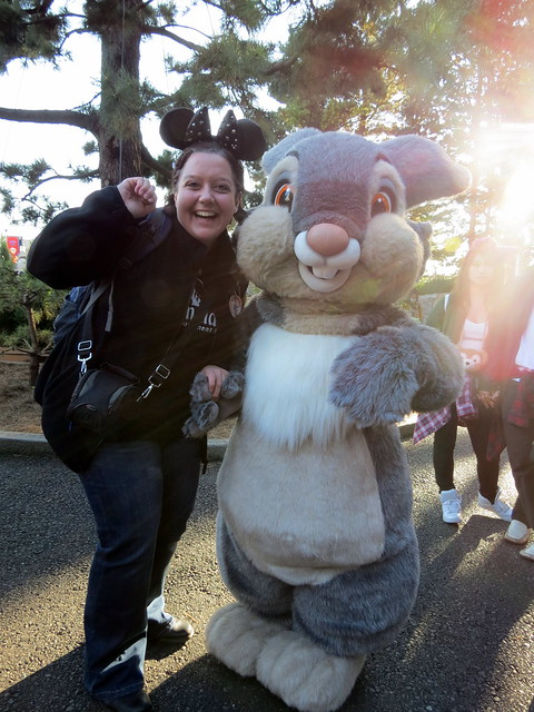 Meeting Thumper at DisneySea