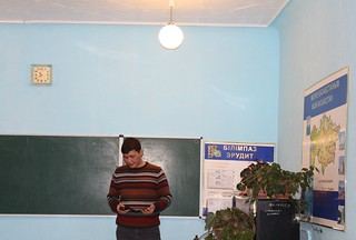 Modernizing lighting in Kazakhstan schools: Taking measures of light intensity | by UNDP in Europe and Central Asia