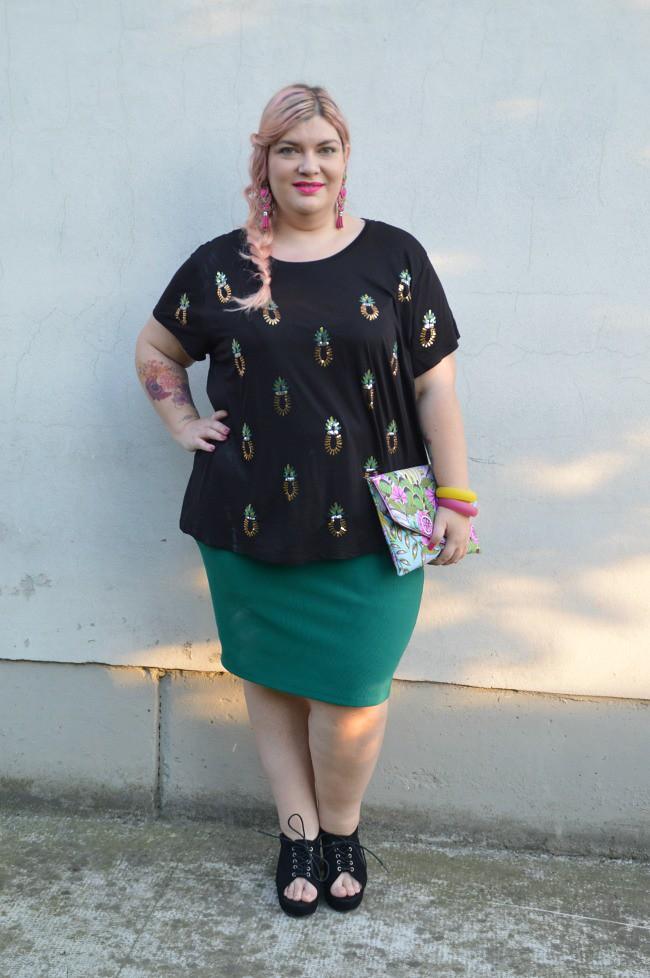Outfit nero e verde (3)
