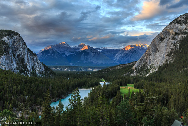 View from the Banff Springs at Sunset