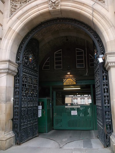 Council house entrance
