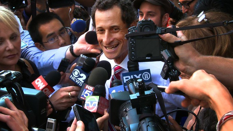 Anthony Weiner can't get enough of WEINER.