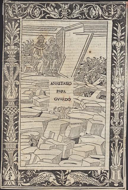 Woodcut from Dante Alighieri: La Commedia.