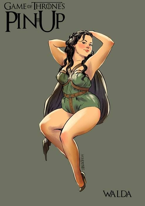 Risqué Game of Thrones pin-up girls by Andrew Tarusov - Walda Frey