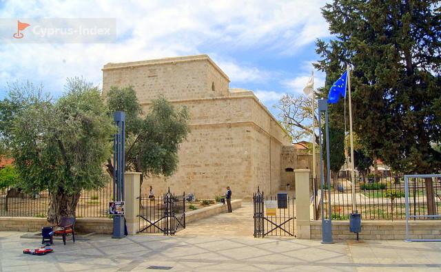 Средневековый Замок в городе Лимассол. Кипр